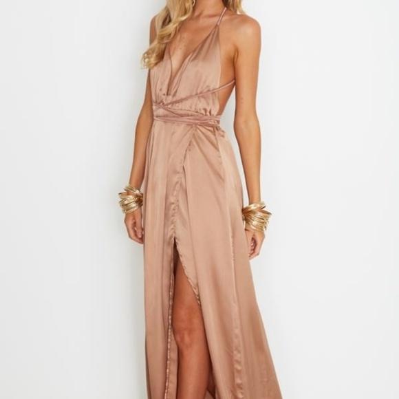 5328009aab1 Akela Maxi Dress Bronze White Fox Boutique